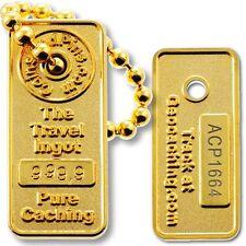 Gold Ingot Micro Travel Tag For Geocaching (Geocoin Travel Bug)