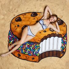 GIANT 5 FT ICE CREAM COOKIE  - Beach Pool Shower Towel Blanket - BigMouth Inc.