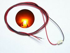 S980 - 10 Stück SMD LEDs 1206 orange mit Kabel Microlitze fertig angelötet