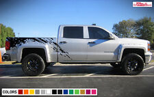 Decal Sticker Vinyl Side Bed Mud Splash Kit for Chevrolet Silverado 2014-2017