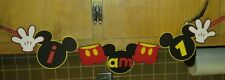 Mickey Mouse inspired high chair Banner custom FREE SHIPPING USA