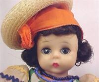 Madame Alexander Brazil Doll Bend Knee 1965-69 Vintage 8 inch A Beauty No Box