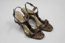 Anne Klein Womens Ladies Snake Skin Open-Toe Strap-on Heels size 8 1/2 M