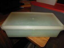 VTG Tupperware Sheer Clear 677-2 Food Storage 11in × 5.5 in & 756 KEEPER GRID