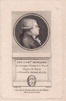 Portrait XVIII Mesnager Député Meaux Assemblée Nationale Constituante Tiers Etat