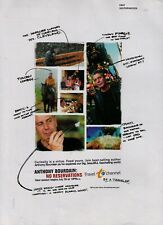 """2007 Anthony Bourdain """"No Reservations"""" Travel Channel TV Show Vintage Print Ad"""