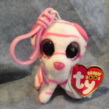 Ty Beanie Boos Asia The White Tiger Clip on Key Ring 36638 008421366385