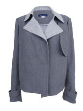 Tommy Hilfiger Womens Contrast-Trim Trench Jacket 14, Grey