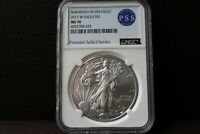 2017 W Burnished Silver Eagle MS 70 NGC Premier Select Series Rare Label