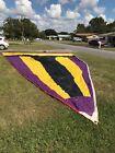 Purple Yellow Black Asymmetrical Spinnaker Sailboat Sail w Bag