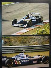 Photo Rothmans Williams Renault FW18 1996 #6 Jacques Villeneuve (CAN) GP BEL 2x
