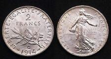 2 Francs 1914C Castelsarrasin - Côte SPL 160€ - Argent 835°/00