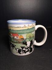 Vintage Otagiri Japan Jersey Dairy Farm Cows Coffee Mug Tea Cup 10oz