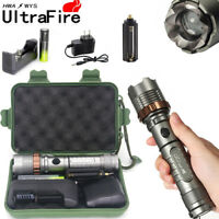 12000LM Tactical T6 LED 5-Mode 18650 Flashlight Lamp 18650 Battery Charger USA