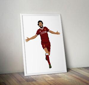 Mo Salah, Liverpool, Football, Print, Poster, wall art, gift, home decor