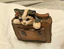 """Kitten Tales Castle Gifts Kitten in Satchel (484016) 1998  3"""" tall x 2.5"""" VGC"""