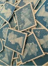 More details for 100 x 2nd class unfranked stamps second highest quality no gum stamp off paper