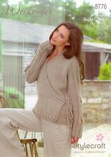 "Stylecraft Knitting Pattern 8776 Ladies Wrap Over Cardigan Super Chunky 28-46"""