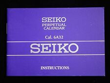 SEIKO WRIST WATCH INSTRUCTION MANUAL BOOK GUIDE BOOKLET 6A32 PERPETUAL CALENDAR
