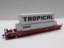 HO Scale - Athearn Burlington Northern Husky Stack Train Car w/ (2) Containers
