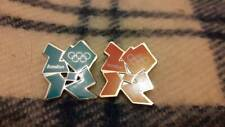 London 2012 Olympic Enamel Metal Pin Badges green and orange