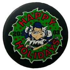 2003 FLINT GENERALS HAPPY HOLIDAYS OFFICIAL HOCKEY PUCK MADE IN CANADA UHL