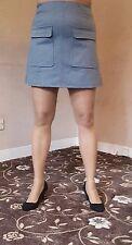 Primark Women's Office Girl Casual Formal Grey Mini Skirt Pencil Work Skirt