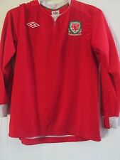 Wales Football Home 2011-2012 LS Shirt Size Small /41325