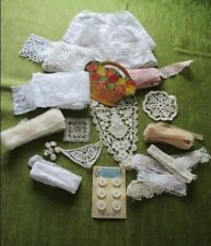 More details for antique/vintage lace, buttons, needlecase for crafts