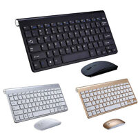 Mini Ultra Thin Wireless Keyboard Mouse Combo Set For PC Laptop Computer Office