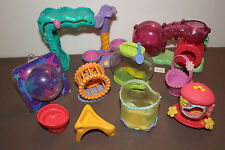 Littlest Pet Shop Lot Twist Playground Playset Hamster Tunnel Basket Stand Wheel