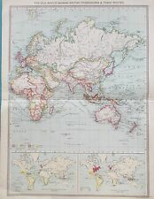 Map of the Old World. 1905. George Philip & Son. BRITISH EMPIRE. ASIA. AFRICA