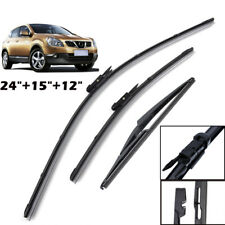 3Pcs Front Rear Windscreen Wiper Blades Kit Set Fit For Nissan Dualis J10 07-13
