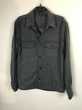 J Lindeberg David Flat Wool Overshirt NWT Dark Gray Size Medium