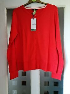 JOULES LOUISA CARDIGAN. BNWT. COLOUR. RED. SIZE. UK.16