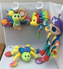 Lamaze Buggy Pram Rattle Teether Toys With Textures And Crinkle Sounds