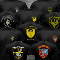 Serbia Special Forces Police Anti Terroris Unit Army CAJ Falcons Cobra T-shirt
