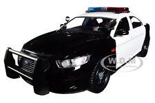 2013 FORD POLICE INTERCEPTOR W/ LIGHTS & SOUNDS BLACK/ WHITE 1/24 MOTORMAX 79539