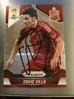 2014 PANINI WORLD CUP PRIZM AUTO DAVID VILLA SPAIN BARCELONA ATLETICO AUTOGRAPH