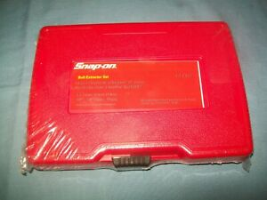 "New Snap-on™ 13-piece 1/4"" thru 3/4"" Bolt Extractor Set Bex13a Sealed"