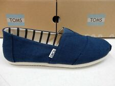 TOMS MENS SHOES CLASSIC MAJOLICA BLUE HERITAGE CANVAS SIZE 13