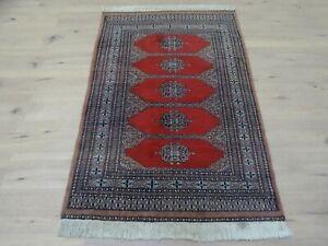 Schöner Handgeknüpfter Perser Orientteppich Buchara Jomut Carpet Rug 150x100cm