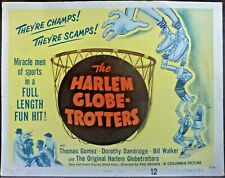 Dorothy Dandridge Harlem Globetrotters Original 50s Lobby Title Card Basketball