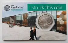 2018 sir Isaac Newton Fifty Pence piece Royal Mint Strike your own 50p RARE