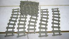 Lego 4520 City 20 Stück Kurven Schienen für 9 Volt RC Eisenbahn Rails Technik kg
