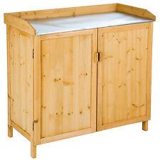 Table à plantes en bois avec armoire basse table de semis et de plantation