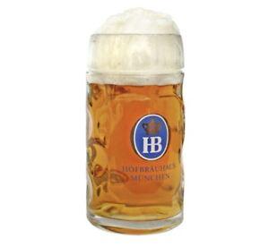AUTHENTIC Hofbrauhaus Hofbrau HB Munchen Dimpled Beer Mug Stein .5 liter 0.5L