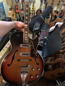 Kawai Jazz Hollow Archtop Electric Guitar Vintage, Working Well