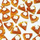 50 Dollhouse Miniature Pumpkin Pie Slices *Doll Mini Food Tart  Dessert Bakery