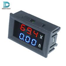 DC 100V 10A Voltmeter Ammeter Dual Digital Blue + Red LED Volt Amp Meter Gauge